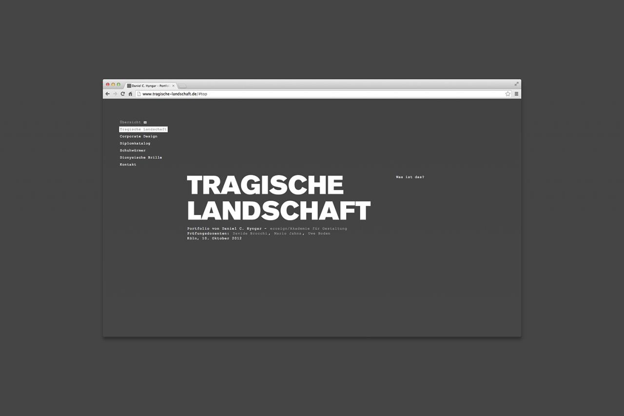 Büro Hyngar Webseite – Tragische Landschaft