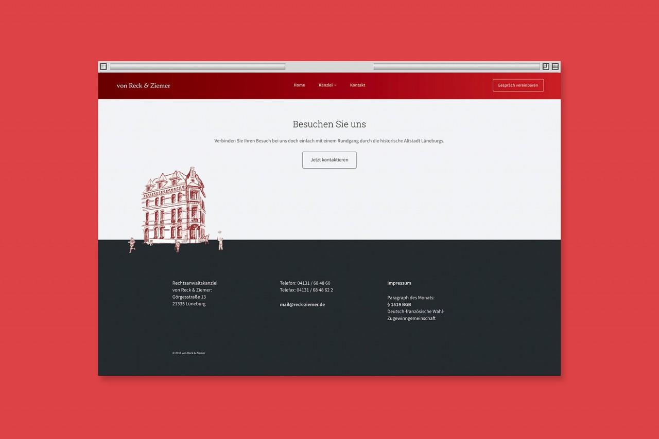 Büro Hyngar Webpräsentation für von Reck & Ziemer