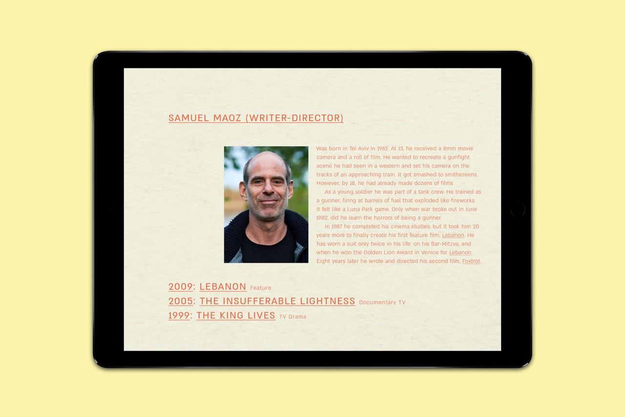 Büro Hyngar Plakat und digitales Presseheft für den Film »Foxtrot«