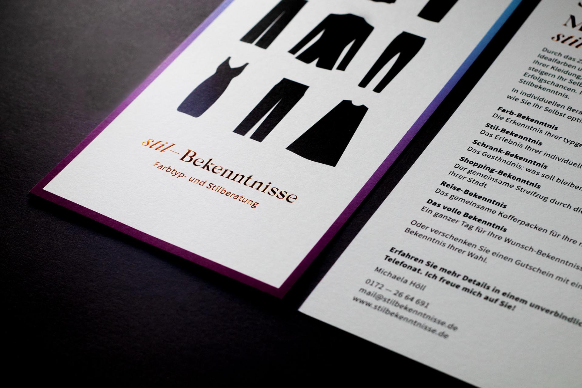 Büro Hyngar Visuelle Identität für Stilbekenntnisse