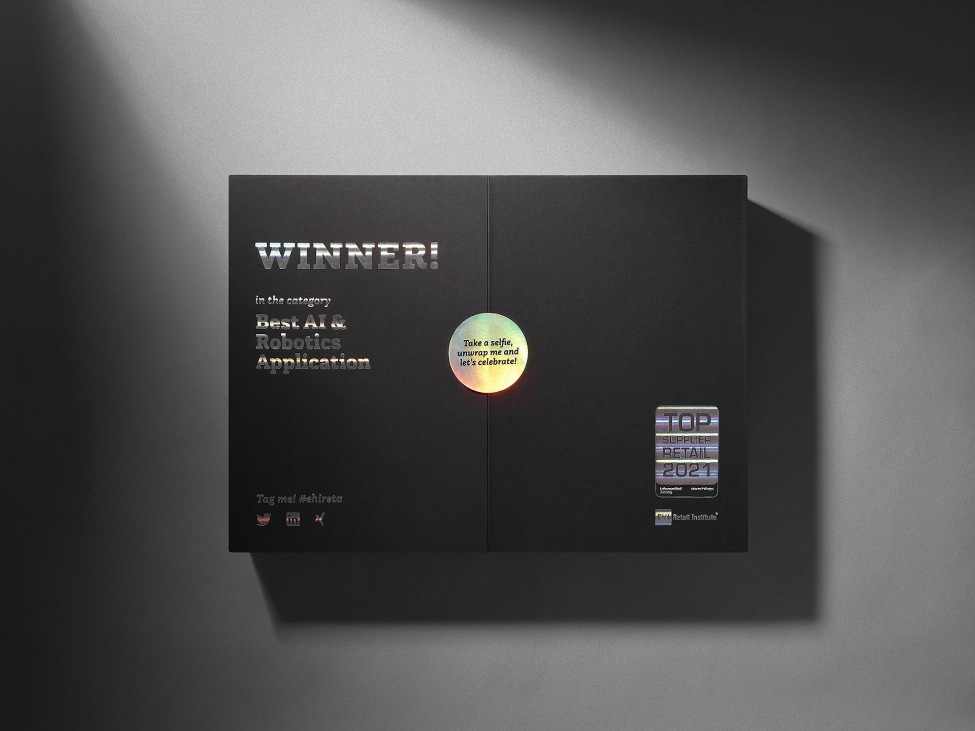 Büro Hyngar reta europe Gewinnerbox für das EHI Retail Institute
